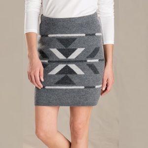 Toad & Co Merritt Sweater Skirt Heather Grey Small